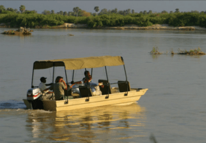 Selous game reserve boat safari